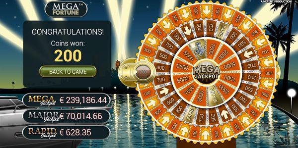 Mega Fortune Jackpot Wheel